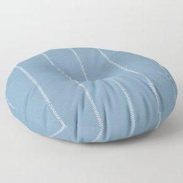 French Blue Linen Stripe Floor Pillow