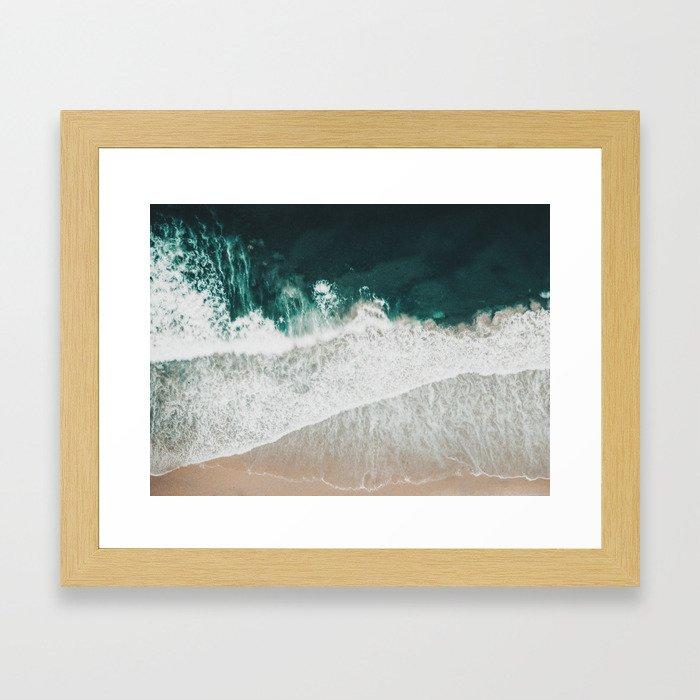 Lost waves Framed Art Print