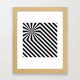 Stripes explosion - Black Framed Art Print