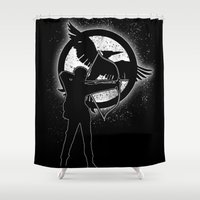 mockingjay Shower Curtains featuring The Mockingjay. by Pride98