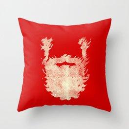 Santa Beard 2 Throw Pillow