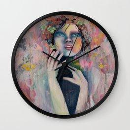 Disturbing peachy love. Wall Clock