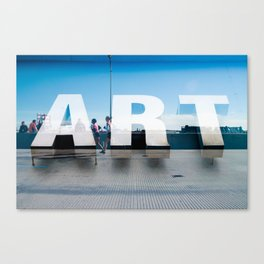 Running Art Canvas Print