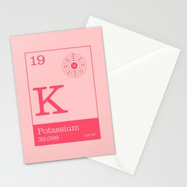 Periodic Elements - 19 Potassium (K) Stationery Cards