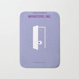 No161 My Monster Inc minimal movie poster Bath Mat