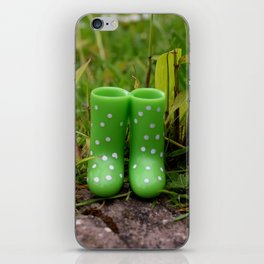 Boots in the grass iPhone Skin