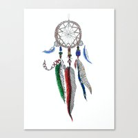 dreamcatcher Canvas Prints featuring Dreamcatcher by Ina Spasova puzzle