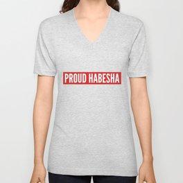 Proud Habesha graphic Eritrea Proud Ethiopia Gift Idea print Unisex V-Neck