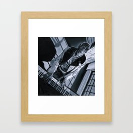 Blues Man With Piano Framed Art Print