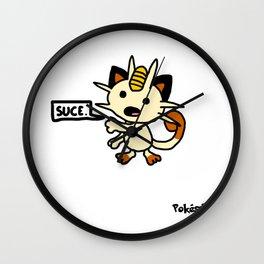 """Miaouss dit """"suce"""" Wall Clock"""