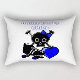 Roller Derby Chick (Blue) Rectangular Pillow