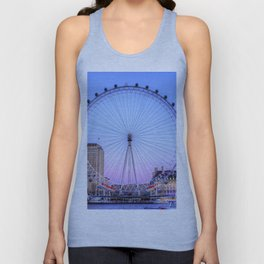 The London Eye, London Unisex Tank Top
