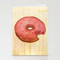 donut Stationery Cards featuring Donut by colorlabo