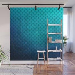 Blue Kraken Ocean Demon Pattern Wall Mural