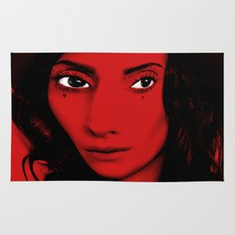 Red Woman Rug