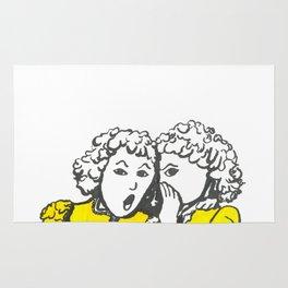 Juicy Gossip Girls by Steve Kidd Art Rug