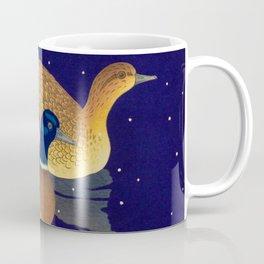 Kawase Hasui Vintage Japanese Woodblock Print Duck Lovers Blue Pond Snow Blossoms Coffee Mug