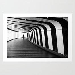 Futuristic Underground Art Print