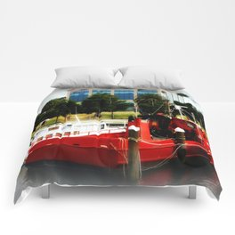Little red tug Boat Comforters