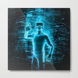 Virtual Reality User Metal Print