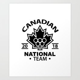 canadian team Art Print