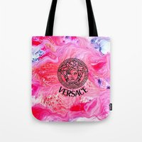 versace Tote Bags featuring Versace Medusa  by  Can Encin