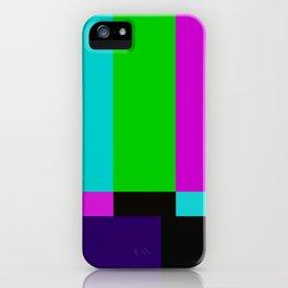TV bars color testTV bars color test iPhone Case