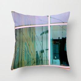 Curvilinear Motion Throw Pillow