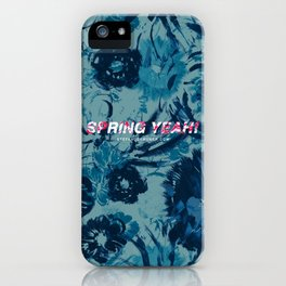 Spring Yeah! - Blue Flowers iPhone Case
