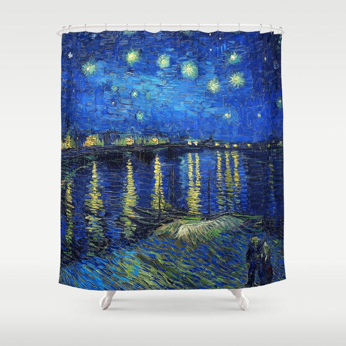 Starry Night Over The Rhone By Vincent Van Gogh Shower Curtain