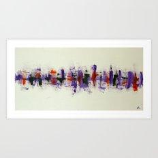 City VI - Poppy Fields Art Print