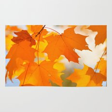 Yellow-orange Autumn Rug