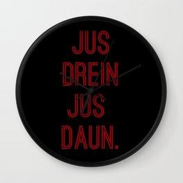 Jus Drein Wall Clock