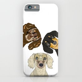Triple Doxies iPhone Case