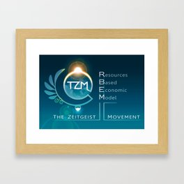 The Zeitgeist Movement - logo 1 Framed Art Print