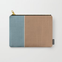 Salmon and Blue Rectangles Carry-All Pouch