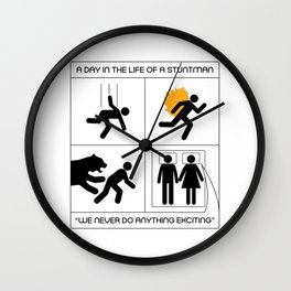 A Day In The Life Of A Stuntman Wall Clock