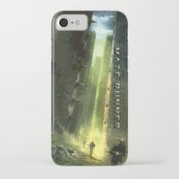 maze runner iPhone & iPod Cases featuring The Maze Runner by TK Studios
