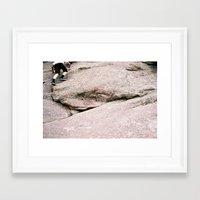 climbing Framed Art Prints featuring climbing by tierra