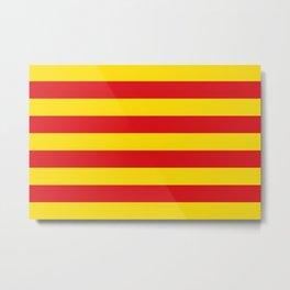 Catalan Flag - Senyera - Authentic High Quality Metal Print