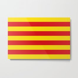 Catalonian flag of Catalan - Senyera Metal Print