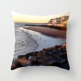 By the shore (New Jersey) Throw Pillow