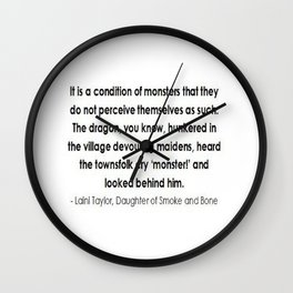 Monster quote  Wall Clock