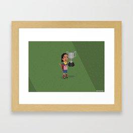 Atlético de Madrid wins Copa del Rey  Framed Art Print