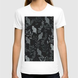 Watercolor Floral and Cat III T-shirt