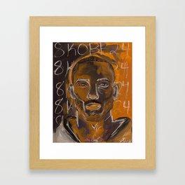 8KOBE24 Framed Art Print