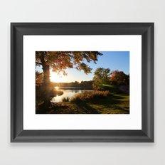 Fleeting Fall Framed Art Print