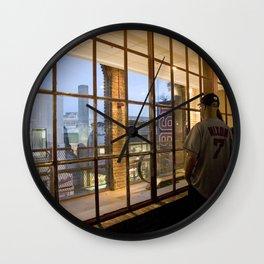 Window- Fenway Wall Clock
