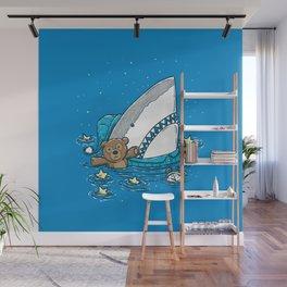 The Sleepy Shark Wall Mural