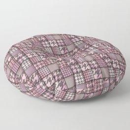 Pink Denim Patchwork Floor Pillow
